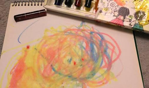 絵を描きたがらない子どもに 透明クレヨン