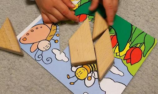 【知育玩具】3歳からできるタングラム 図形の概念を自然に習得