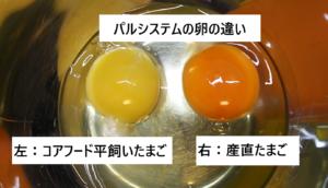パルシステムの卵の違い