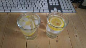 レモン酢水割り